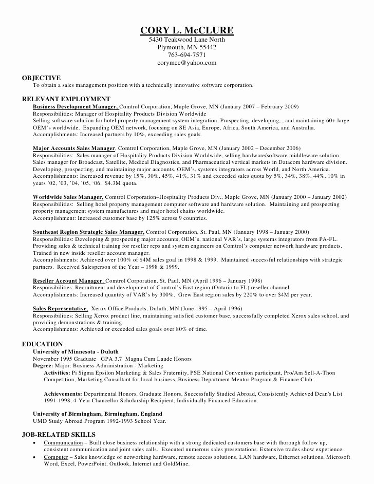 Honors In Resume New Cory Mc Clure Resume