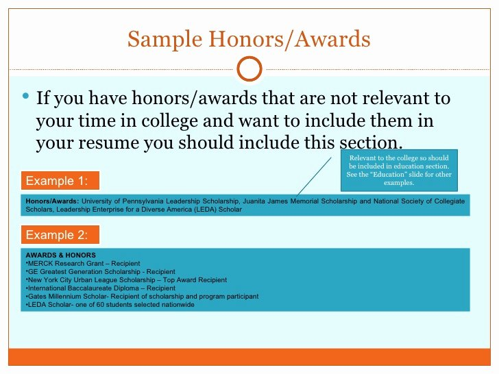 Honors On Resume Best Of How to Write A Resume