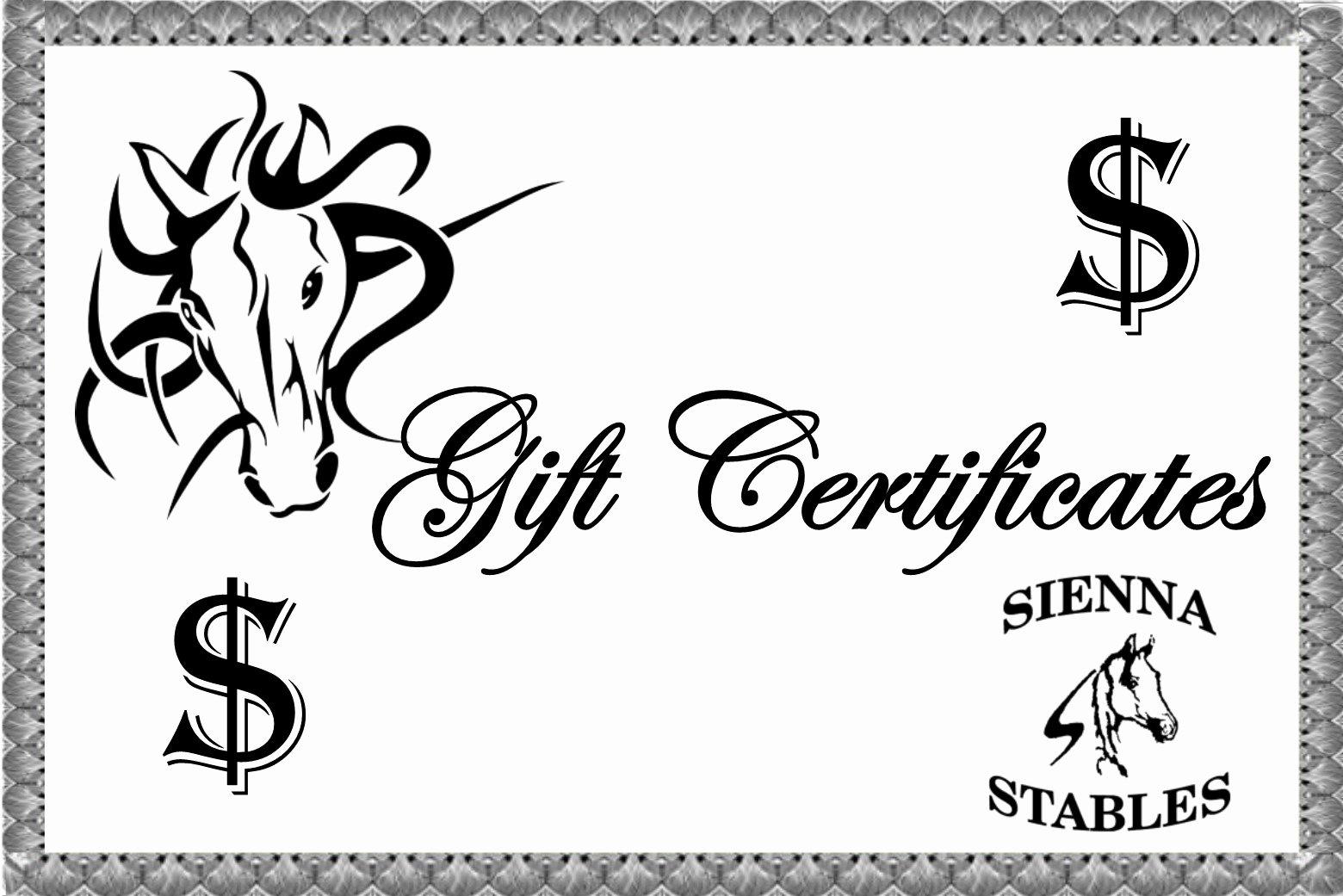 Horseback Riding Gift Certificate Template Unique Gift Certificate Template for Riding Lessons