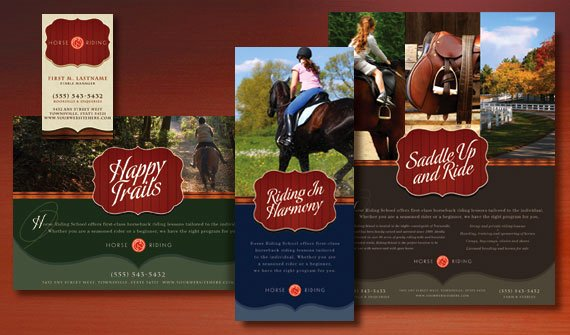 Horseback Riding Lesson Gift Certificate Template Fresh Spirited Graphic Designs for Marketing A Horse Riding