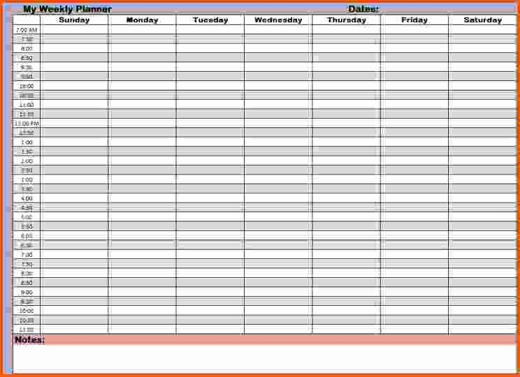 Hourly Calendar Template Best Of 11 Hourly Schedule Template