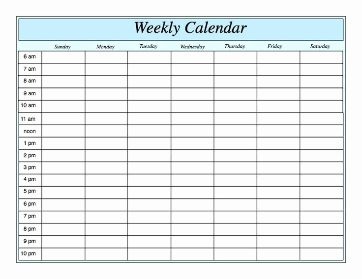 Hourly Calendar Template Inspirational Weekly Calendar for Pages