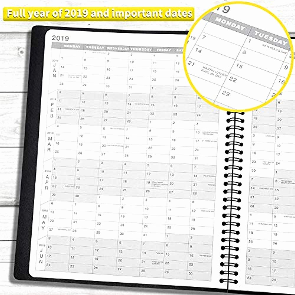 Hourly Weekly Planner Fresh 2019 Weekly Planner Appointment Monthly Yearly Calendar