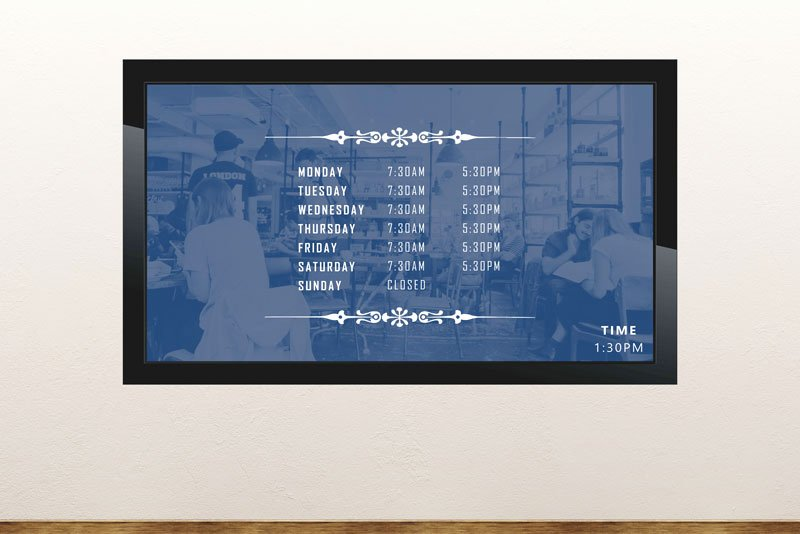 Hours Of Operation Template Microsoft Word Best Of Free Digital Signage Templates • Presentationpoint