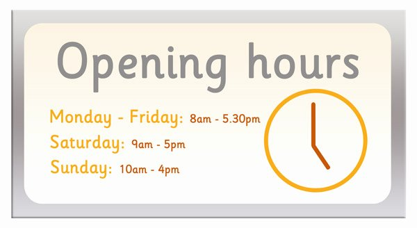 Hours Of Operation Template Microsoft Word New Royalty Free Stock Photos Opening Hours Sign Eps