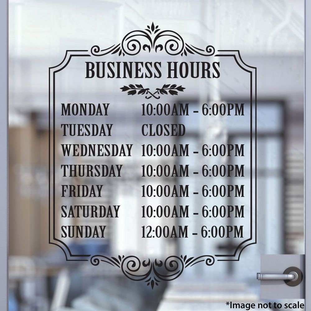 Hours Of Operation Template Word Luxury Custom Business Hours Stickertitans