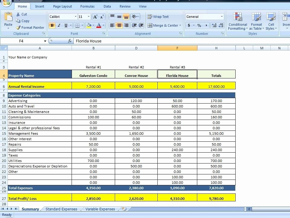 House Flipping Budget Spreadsheet Template Beautiful Property Management Spreadsheet Excel Template for