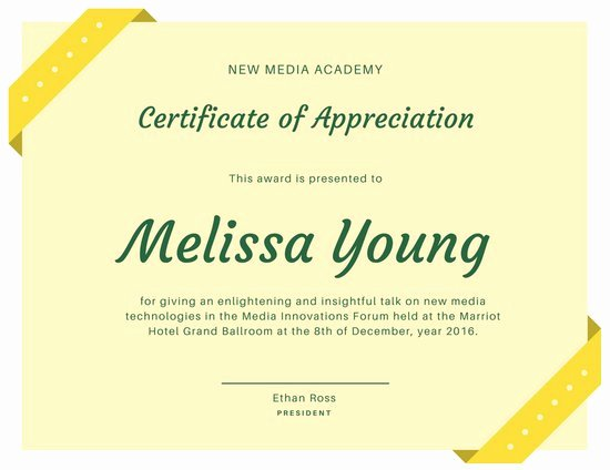 Image Of Certificate Of Appreciation Inspirational Customize 89 Appreciation Certificate Templates Online