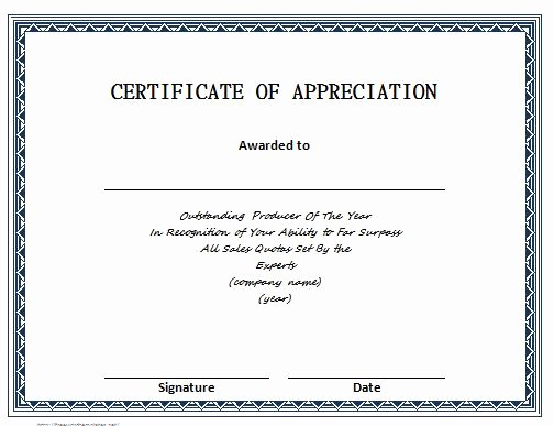 Image Of Certificate Of Appreciation Luxury 30 Free Certificate Of Appreciation Templates and Letters