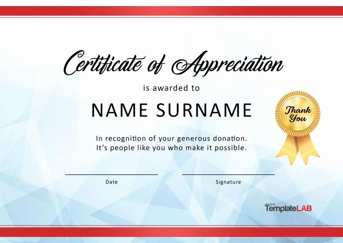 Image Of Certificate Of Appreciation New 30 Free Certificate Of Appreciation Templates and Letters