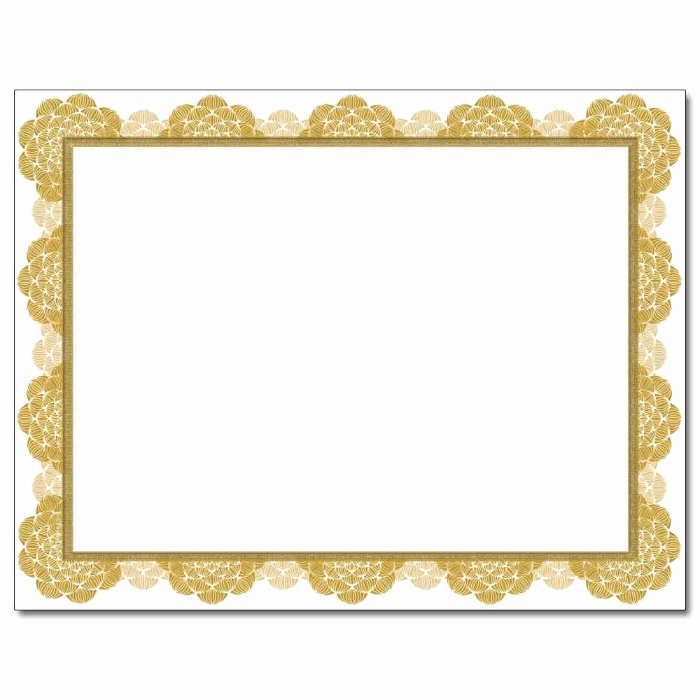 Images Of Certificate Borders New Gold Medallion Laser & Inkjet Certificate Border Paper