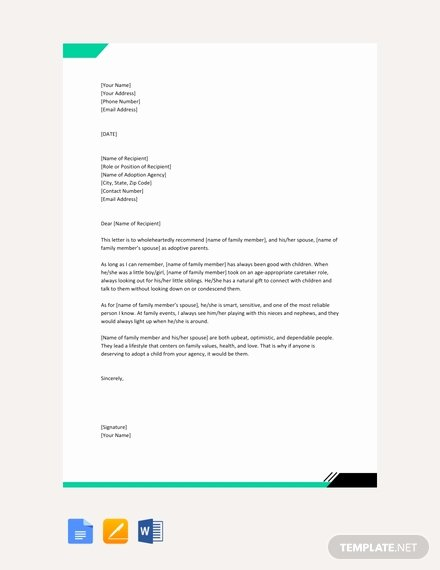 Immigration Letters From Family Members Awesome Free Character Letter for Court for Family Member Template