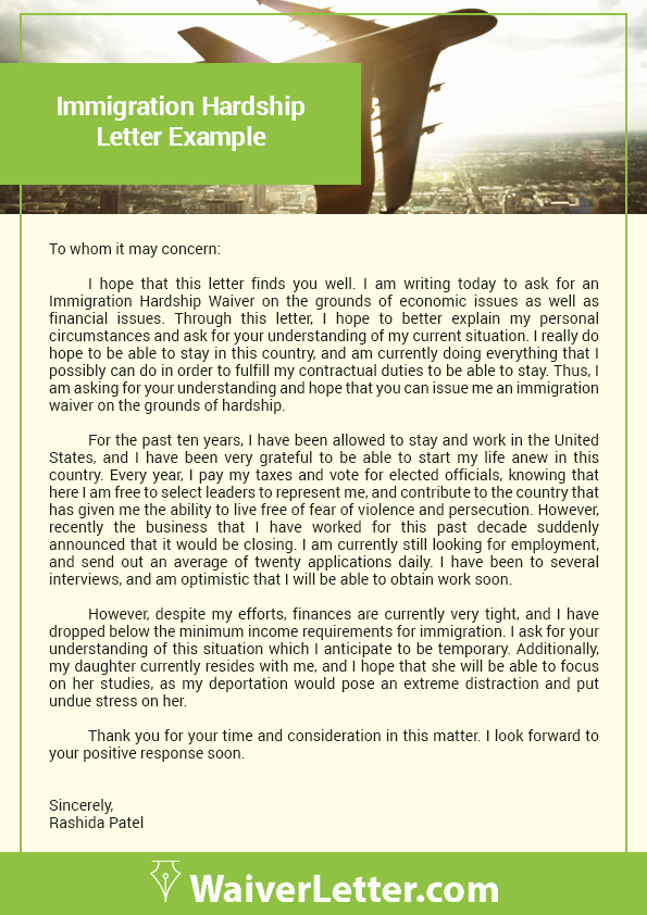 Immigration Pardon Letter Elegant How to Write A Waiver Letter for Immigration
