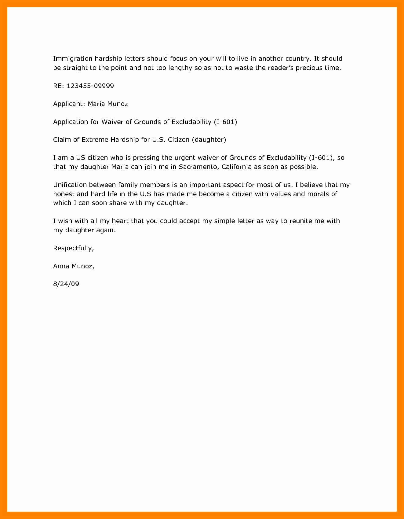 Immigration Pardon Letter Sample Lovely 11 Immigration Pardon Letter Sample