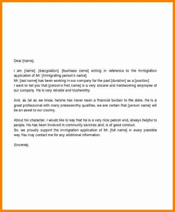 Immigration Support Letter Sample Beautiful 9 Immigration Letter Of Support