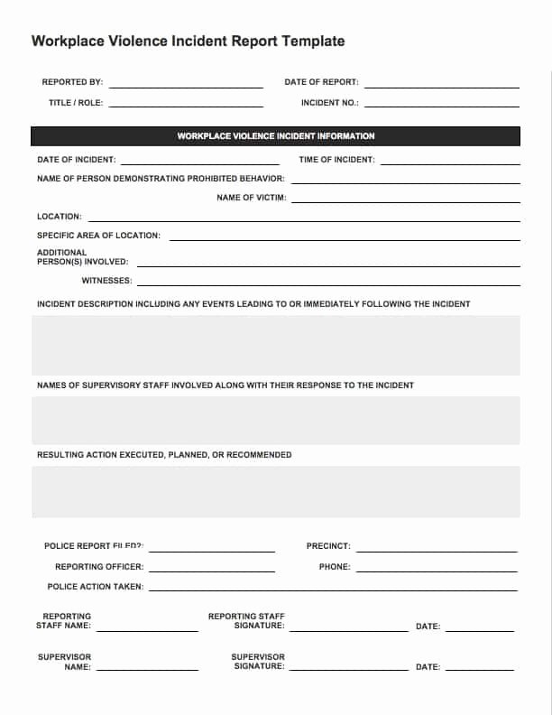 Incident Response Plan Template Sans Luxury Security Incident Investigation Report Template
