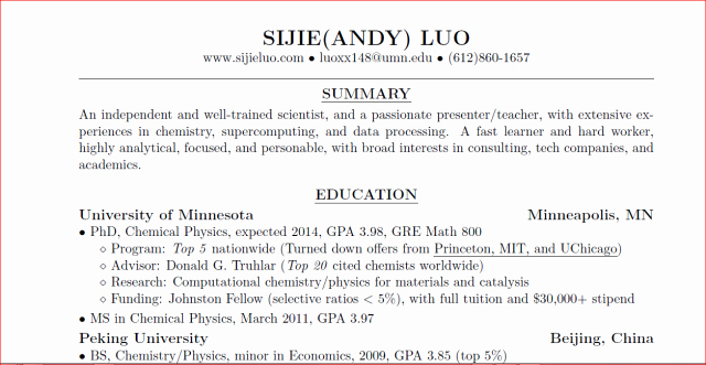 Incomplete Degree On Resume Best Of Write Your Consulting Resume Using Latex Part 1