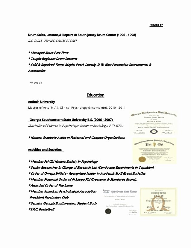 Incomplete Masters Degree On Resume Lovely Resume 9