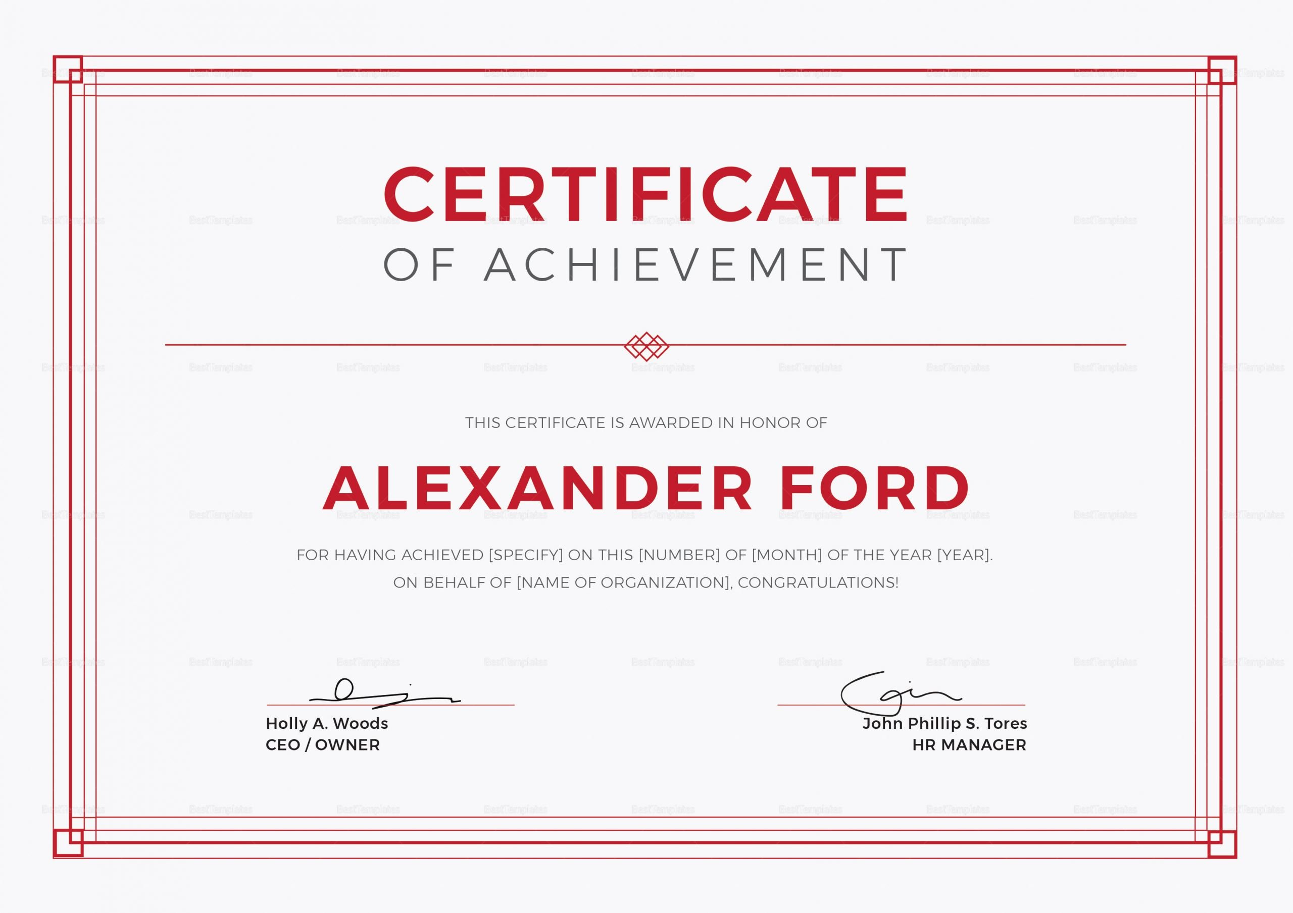 Indesign Certificate Template Free New Multipurpose Achievement Certificate Design Template In