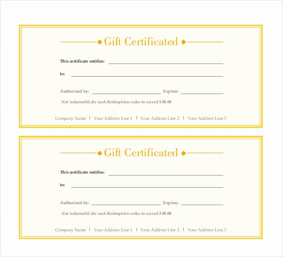 Indesign Gift Certificate Template Elegant Gift Certificate Template – 34 Free Word Outlook Pdf