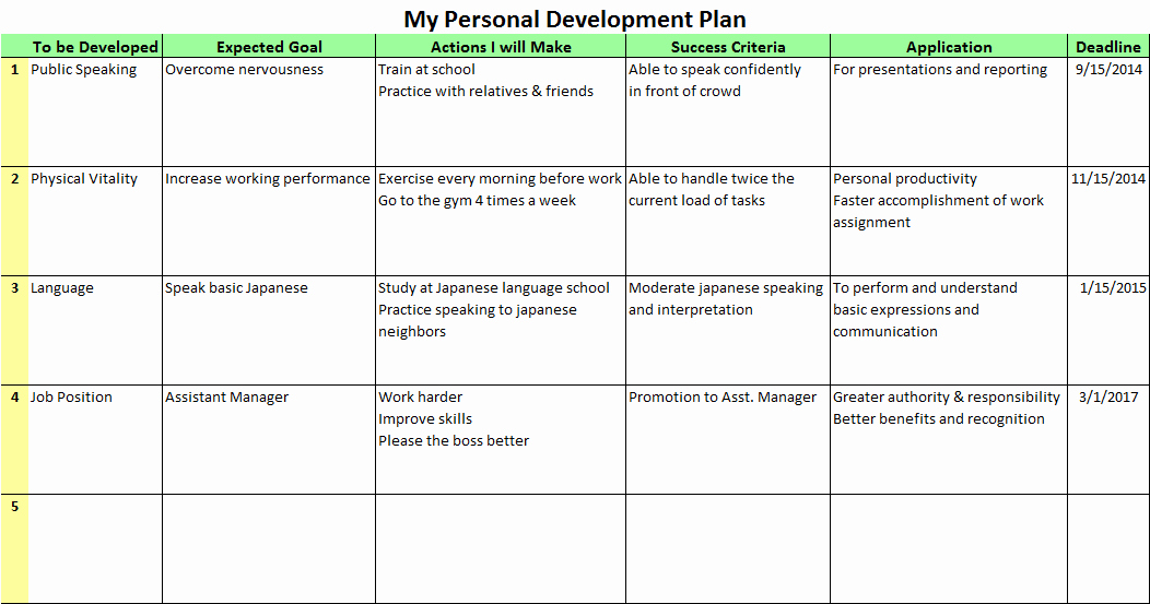 Individual Professional Development Plan Samples Elegant Personal Development Plans for the Better Future