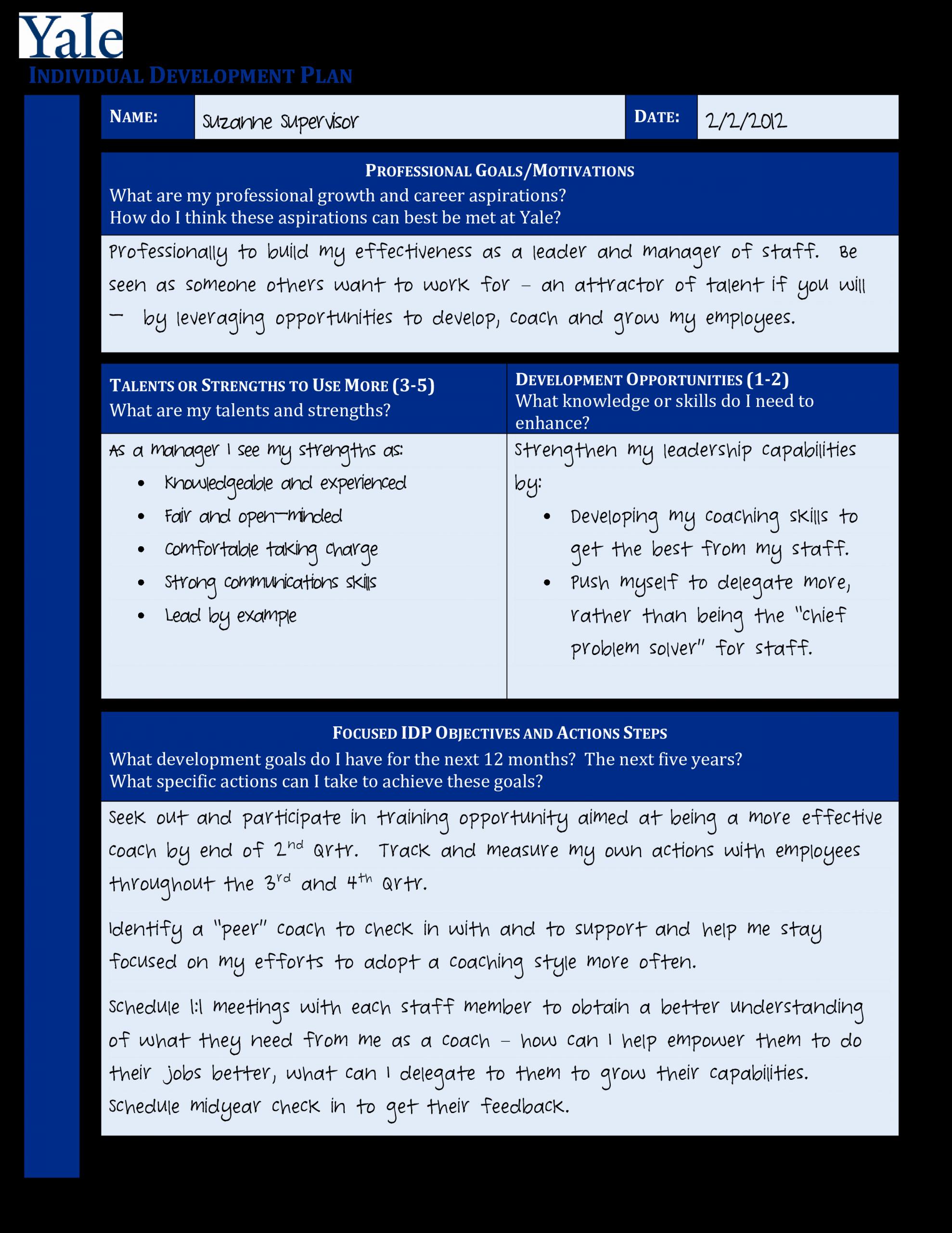 Individual Professional Development Plan Samples Lovely Individual Personal Development Plan