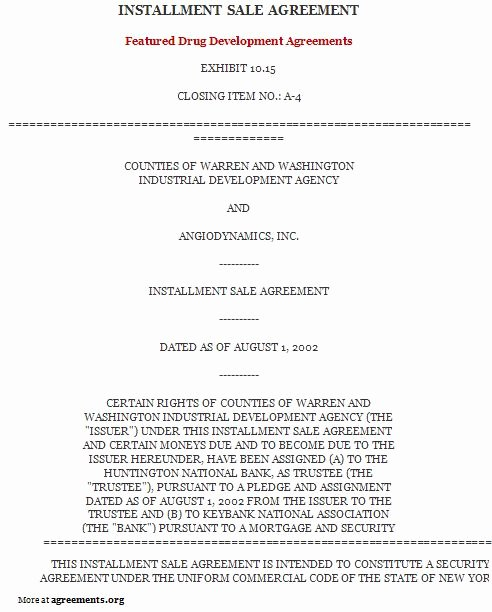Installment Payment Agreement Best Of Installment Purchase Agreement Download Pdf