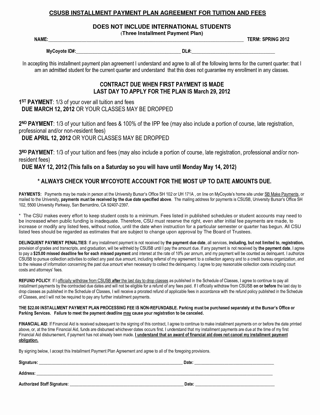 Installment Payment Agreement New Installment Quotes Quotesgram