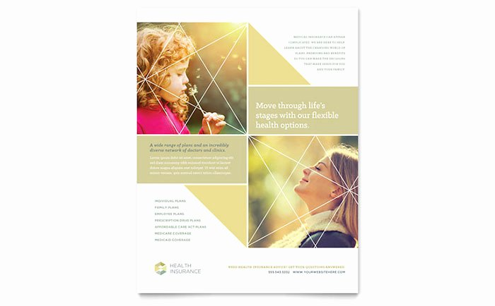 Insurance Card Template Pdf Best Of Health Insurance Flyer Template Design
