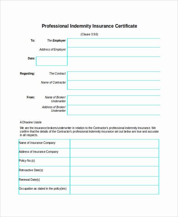 Insurance Card Template Pdf Luxury Insurance Certificate Template – 10 Free Word Pdf