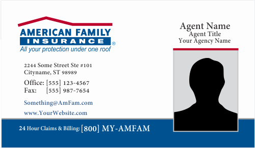 Insurance Card Template Word Beautiful order American Family Insurance Business Card Templates