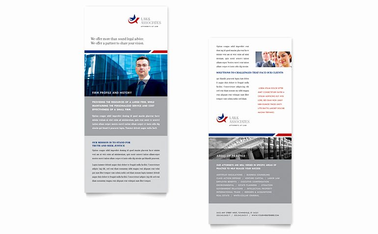Insurance Card Template Word Elegant Legal & Government Services Rack Card Template Word
