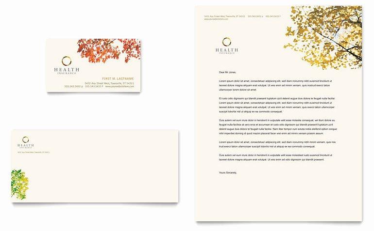 Insurance Card Template Word Fresh Health Insurance Pany Business Card & Letterhead
