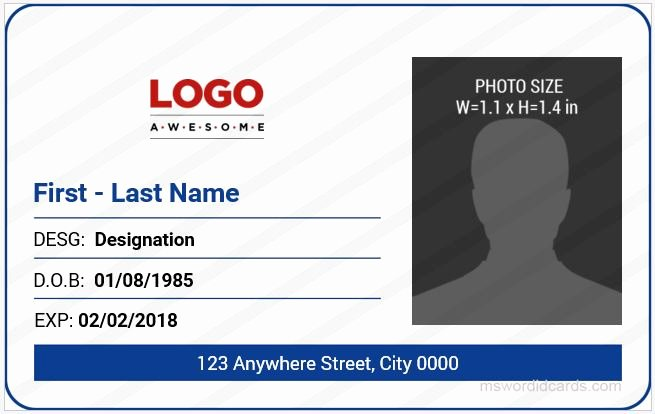 Insurance Card Template Word New 5 Best Fice Id Card Templates Ms Word