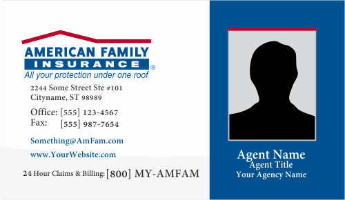 Insurance Card Template Word New order American Family Insurance Business Card Templates