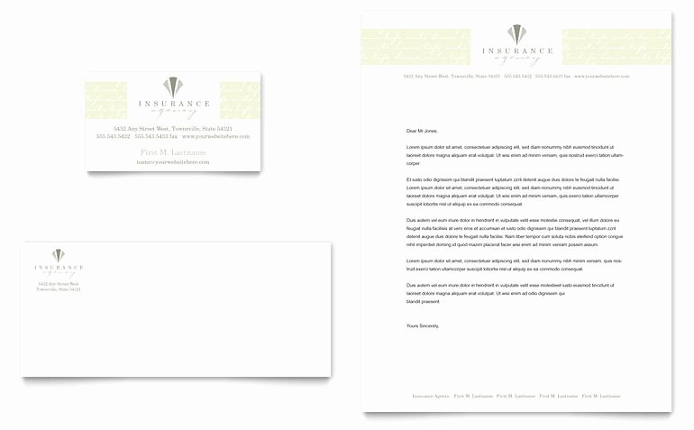 Insurance Card Templates Lovely Life & Auto Insurance Pany Business Card & Letterhead