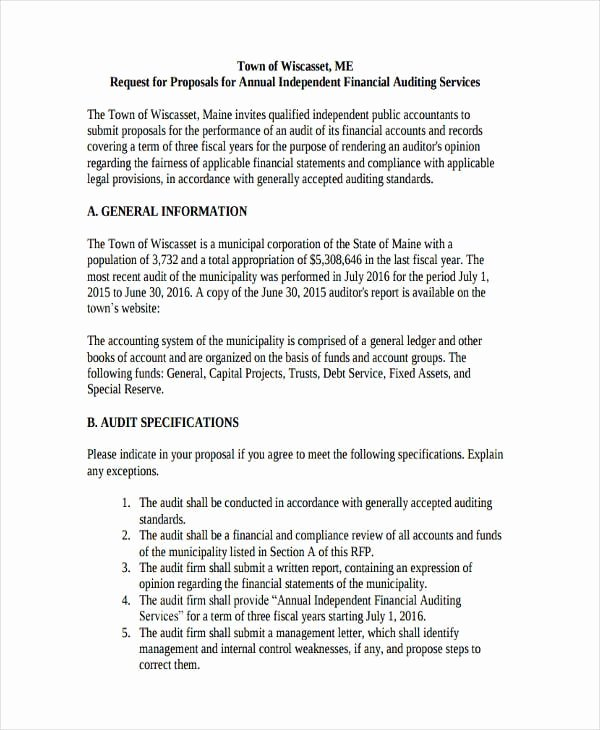 Internal Business Proposal Examples Fresh Free 31 Request for Proposal Examples In Pdf