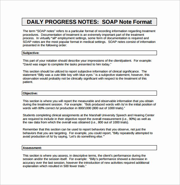 Internal Medicine soap Note Template Awesome 26 Of Diabetes Progress Note Template
