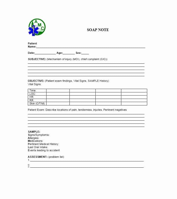 Internal Medicine soap Note Template New Medical Problem List Template