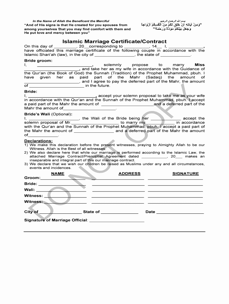 Islamic Marriage Certificate Template Best Of How to Get Copy Nikah Nama In India Fill Line