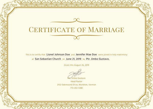 Islamic Marriage Certificate Template Elegant How to Make A Certificate In Microsoft Word – Tutorial