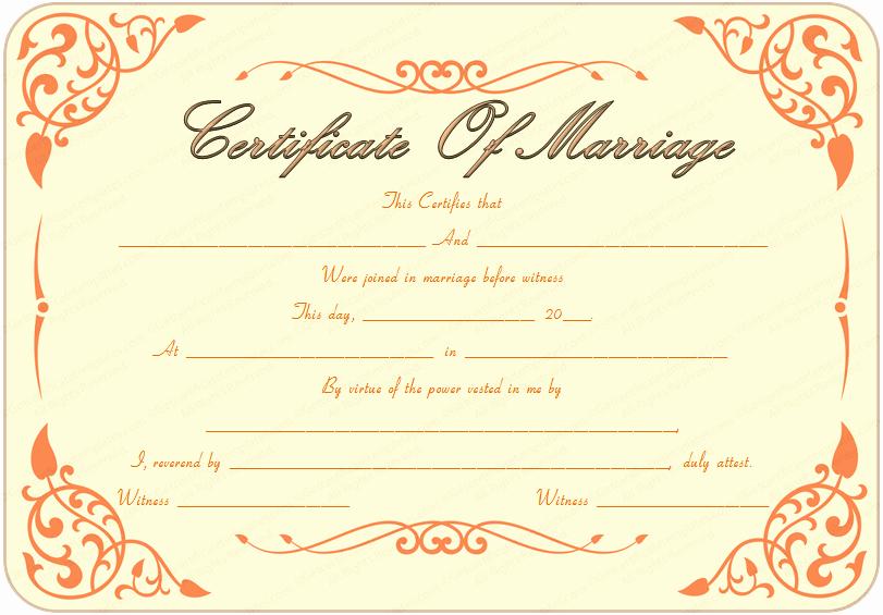 Islamic Marriage Certificate Template Elegant Printable Marriage Certificate Template