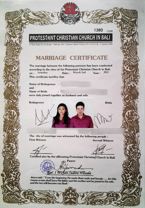 Islamic Marriage Certificate Template Unique How to Married Legally In Bali