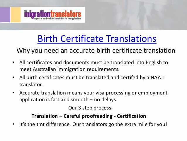 Italian Birth Certificate Translation Template New why You Need An Accurate Birth Certificate Translation