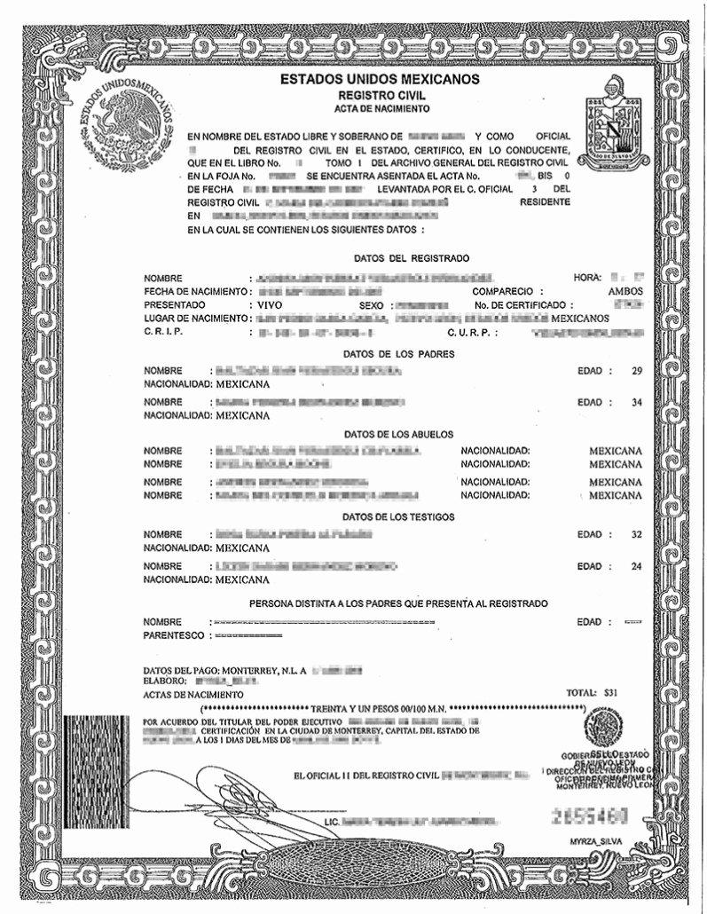 Italian Birth Certificate Translation Template Unique Birth Certificate Translation Services Chicago