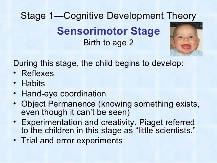 Jean Piaget's Stages Of Cognitive Development Chart Lovely Pia S Cognitive Development theory Sensorimotor Stage