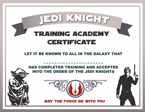 Jedi Knight Certificate Template Unique Mi Casa Nursing Center Hosts Star Wars themed Skills Fair