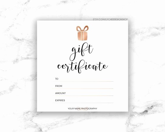 Jewelry Appraisal Certificate Template Best Of Printable Rose Gold Gift Certificate Template Editable