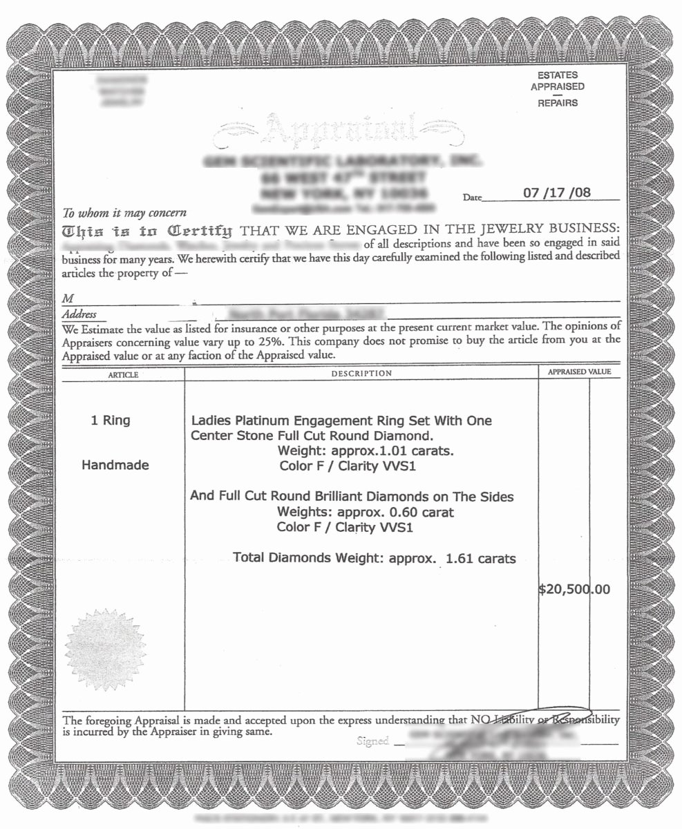 Jewelry Appraisal Certificate Template Luxury Diamond Appraisals From Legit to toilet Paper Part 1