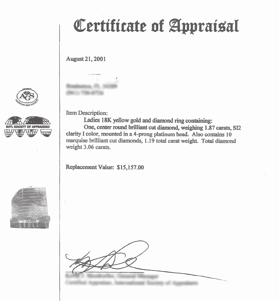 Jewelry Appraisal Certificate Template New Diamond Appraisals From Legit to toilet Paper Part 1